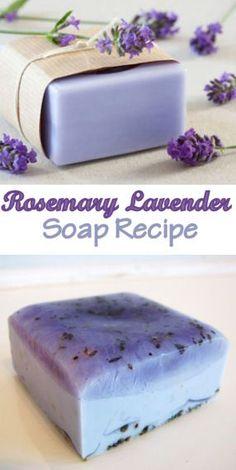 Rosemary Lavender Soap Recipe #skincare #skincarerecipes http://ncnskincare.com/