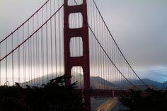 Golden Gate Bridge in San Francisco, CA  http://hikersbay.com see also: http://www.pinterest.com/hikersbay/united-states-national-parks/