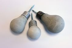 Concrete Lightbulb Pulls