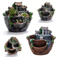 5pcs Miniature Dollhouse Bonsai Fairy Garden Landscape Resin Tree Decor #7