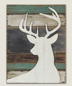 White deer silhouette on multi-colored barn wood background. Pallet Crafts, Pallet Art, Wood Crafts, Pallet Ideas, Christmas Wall Art, Christmas Wood, Christmas Decor, Christmas Ideas, Deer Wall Art