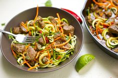 This Thai Beef Drunken Zoodle dish has the most amazing sauce, flavor, and spice to satisfy all you Thai food lovers! Super easy to make on a busy weeknight. Recipe is grain-free, gluten-free, and Paleo. Hello deliciousness. I am seriously crazy about this dish because it is CRAZY good. I feel like I just want...Read More »