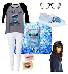 """""""LILO and stitch"""" by turiyaisme on Polyvore featuring Disney, dELiA*s, Boohoo, Fiebiger and Ray-Ban"""