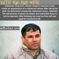 Joaquin Guzman Loera, a Mexican drug lord Wow Facts, Wtf Fun Facts, True Facts, Funny Facts, Funny Memes, Random Facts, Crazy Facts, Random Stuff, Funny Quotes