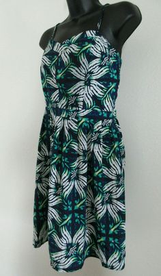 Gap Women's Sundress Size 6 Peacock Floral Print~CUTE~EUC #GAP #Sundress
