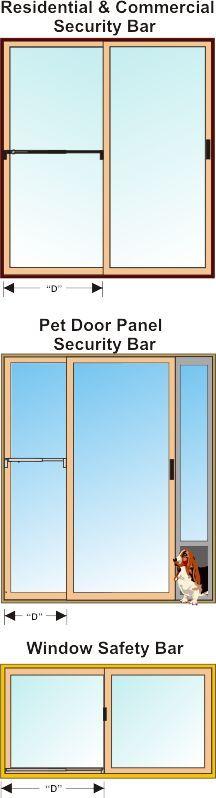 Commercial Door Security Bar