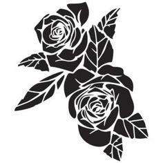 Трафарет розы.