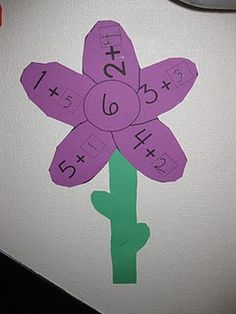 math - addition flower