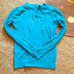 Tommy Hilfiger sweater Bold blue sweater new without tags button detail on the back true to size Tommy Hilfiger Sweaters Crew & Scoop Necks