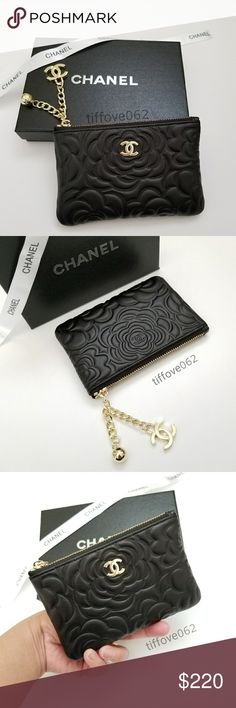 743f31c270b9e2 Authentic Chanel VIP gift coins pouch. brand new. Authentic Chanel VIP gift  lamb black