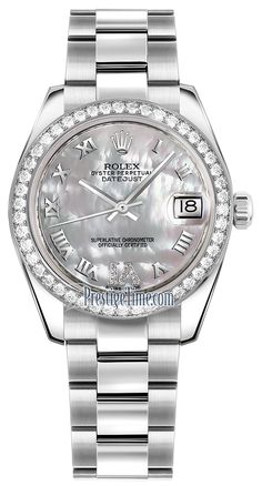 Rolex Datejust 31mm Stainless Steel 178384 White MOP VI Roman Oyster