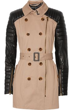 W118 by Walter BakerKeanu quilted faux leather and cotton trench coat