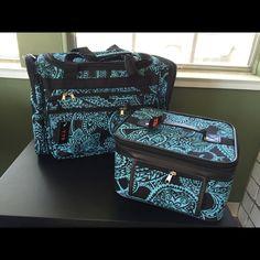 "Duffle & Makeup case 19"" Duffle Bag and 11x9"" makeup case JGarden Bags Travel Bags"