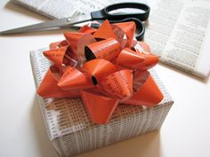DIY upcycled gift bow!