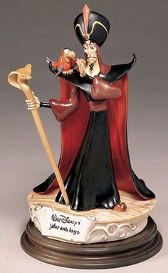 Jafar and Iago from Aladdin Villain Disney Capodimonte Laurenz