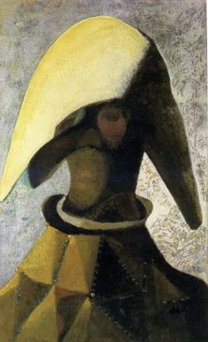 Frantisek Tichy The head of the commedia dell'arte 1938 painting oil on canvas, (Czech Rep.)