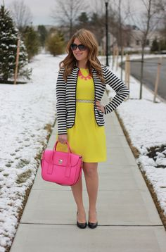 bright colors and bold stripes | Mix and Match Fashion