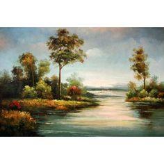 Real Handmade Landscape Oil painting Landscape Art, Landscape Paintings, Oil Paintings, Artist Signatures, Artist Painting, Bob Ross, Fine Art, Decoupage, Handmade