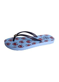 691557f47ee50 Tory Burch Navy Blue Printed Crabs Thin Flip Flops Thongs 5   Find out more  about