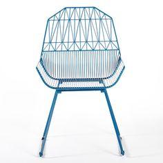 Farmhouse Chair in Peacock Blue by Gaurav Nanda