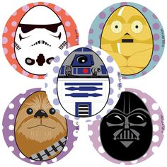 Are you having a Star Wars party or do you have a DIY project? These are great to decorate treat bags, decorate tableware, etc. It is time to get creative. Have a fun springtime with Star Wars charact Darth Vader Stencil, Easter Art, Easter Eggs, Easter Stickers, Logo Shapes, Easter Egg Designs, Diy Craft Projects, Crafts, Egg Art