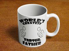 Coffee Mug for Dad | Fart Mug | Birthday Gift for Dad | Fathers Day Gift | Worlds Greatest Farter Father | Funny Mug | 11oz Ceramic 092