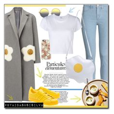 """Oversized Coat Eggs"" by aidasusisilva ❤ liked on Polyvore featuring Anya Hindmarch, H&M, Casetify, Matthew Williamson, RE/DONE and adidas Originals"