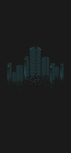 Dark City iPhone X Black Wallpaper