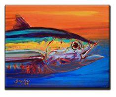 YELLOWFIN Tuna FISH Ceramic Tile  Savlen Sport by SavlenStudios