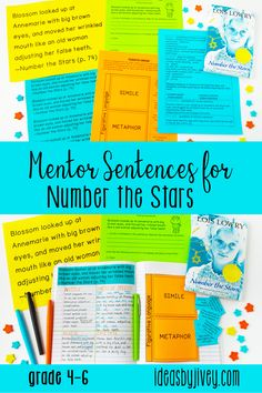 Using mentor sentences from your favorite read-aloud books is a great way to teach grammar and author's craft! This resource includes lesson plans for including mentor sentences in your 4th, fifth, and 6th grade classrooms for 5 weeks. Click the pin to see the activities included!