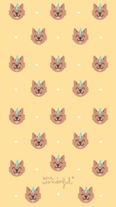 ideas for dogs wallpaper pattern wallpapers Live Wallpaper Iphone 7, Unicornios Wallpaper, Animal Wallpaper, Pattern Wallpaper, Mr Wonderful, Cute Wallpaper Backgrounds, Trendy Wallpaper, Cute Wallpapers, Wallpaper Gatos