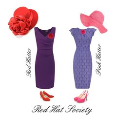 Red Hat Society ~ Red Hatter ~ Pink Hatter, created by forgiven78 on Polyvore