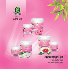 Dew Herbals Skincare Acne Go Range! Dew 3 in 1  Dew Clear (Best for acne) Dew Clay Mask
