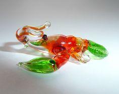 Miniature Glass Lobster Sea Animal от WeAreLuckyShop на Etsy