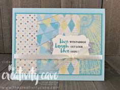 Wwys BeCheck out the video tutorial for this great card using Stampin Up's Beautiful You Stamp set and Cupcakes and Carousels printed paper on my blog: www.thecreativitycave.com #stampinup #thecreativitycave #beautifulyouautiful you