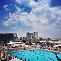 at the Dan Accadia Hertzilia San Francisco Skyline, Israel, New York Skyline, Dan, Heaven, Instagram, Sky, Paradise