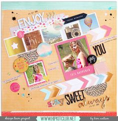 The Hip Kit Club Monthly Scrapbook Kit Club offers the best monthly Embellishment, Paper, Cardstock, Project Life and Color Scrapbook Kits! Scrapbook Sketches, Scrapbooking Layouts, Scrapbook Cards, Hip Kit Club, Websters Pages, Exciting News, Page Design, Scrapbooks, Card Stock