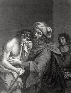 Luke in the Phillip Medhurst Collection 403 The parable of the prodigal son: the return Luke 15:20-22 after Guercino on Flickr. A print from the Phillip Medhurst Collection of Bible illustrations, published by Revd. Philip De Vere at St. George's...