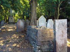 Biking The Lido in the Venice Lagoon. Old cemetery Jews