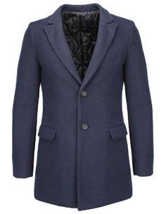 FLATSEVEN Homme Slim Laine Blend Peaked Lapel Blazer Veste (BJ110) Navy, Boys L  #FLATSEVEN #vetement #fashion #homme #veste