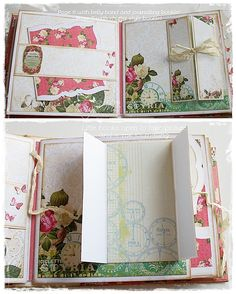 Prima Stationer's Desk 9 x 8 gate fold album with a multitude of pages in various sizes, lots of photo mounts, journaling cards, pockets and hidden nooks n crannies. Mini Albums Scrap, Mini Scrapbook Albums, Scrapbook Cards, Memory Album, Memory Books, Journal Cards, Junk Journal, Journal Ideas, Altered Books Pages
