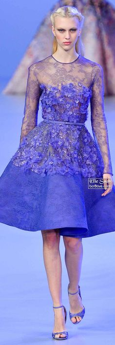 Elie Saab Spring 2014 Couture Collection Elie Saab Couture, Haute Couture Dresses, Couture Fashion, Runway Fashion, Fashion Show, Fashion Design, Dressy Dresses, Stylish Dresses, Short Dresses