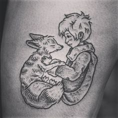 osh_darkly'The Little Prince' based on the artwork by deviantartist Nayuki910. Thanks Liesl! #thelittleprince #tattoo #fox #blackworkers #stippling #blxckink #blackworktattoo #darkartists