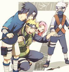 Ryusei의 세계 : 일러스트 ミン Uzumaki Naruto Uchiha Sasuke Haruno Sakura Hatake Kakashi Team 7 NARUTO