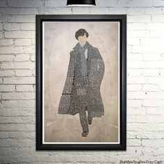 Sherlock Poster-- Benedict Cumberbatch Art, BBC Sherlock Quotes