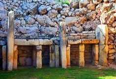 """Ggantija Temples - Ggantija Temples is one of the most impressive and best-preserved archaeological sites on the Maltese Islands. This UNESCO-listed prehistoric site dates from a very early period of human life: 3600 BC to 3200 BC, the Ggantija Phase during the Copper Age. The etymology of Ggantija is derived from the Maltese word """"ggant"""" associated with a race of giants. More: http://www.planetware.com/tourist-attractions-/gozo-m-go-gozo.htm"""