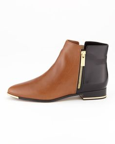 Michael Kors Cindra Two-Tone Ankle Boot