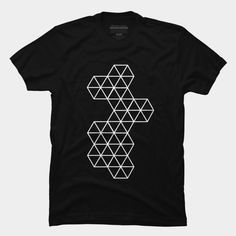 Hexagon Addicts T Shirt By SOMZEE Design By Humans. Simple Black and white T-Shirt.  Best Abstract Geometric T-Shirt (Tees). Also the design in good for Geometric tattoo design inspiration. Absolutely one of the best and coolest street apparels.