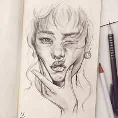 Top Drawing Inspirations - Graphic Design Inspiration You are in the right place about Women Top dressy Here we offer Cool Art Drawings, Doodle Drawings, Art Drawings Sketches, Drawing Ideas, Disney Drawings, Drawing Art, Self Portrait Drawing, Art Inspiration Drawing, Creative Inspiration