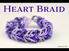 ▶ How to Make a Rainbow Loom Heart Braid Bracelet - YouTube